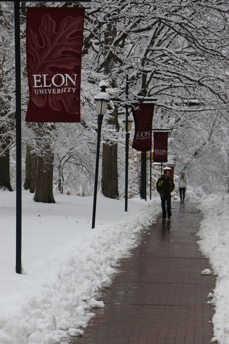 https://flic.kr/p/rnAWSH | Elon University Snowfall 02/26/2015 | Snow falls on Elon University's campus (02/26/2015). (Photo by Daniel MacLaury)
