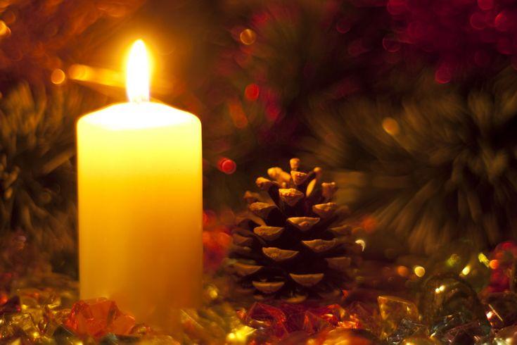 Christmas Candles | Holidays. New Year. Christmas candle.