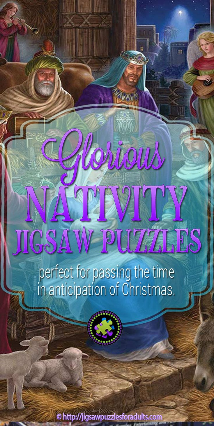 Glorious Nativity Jigsaw Puzzle 1000 piece is a beautifully illustrated jigsaw puzzle that would be perfect for passing the time in anticipation of Christmas. You'll also find plenty of beautiful Nativity Jigsaw Puzzles as well.