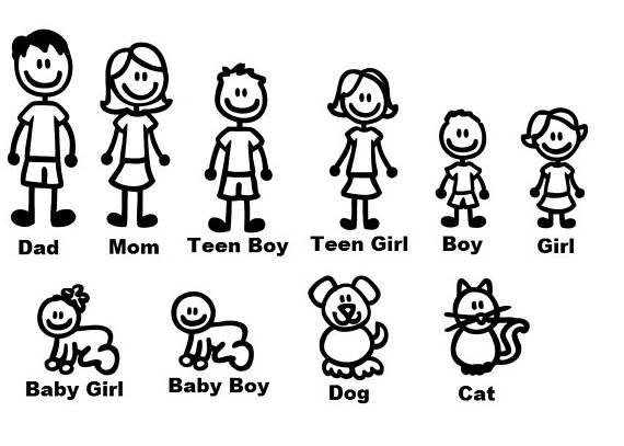 Hey, I found this really awesome Etsy listing at https://www.etsy.com/listing/513711042/stick-figure-family-decal
