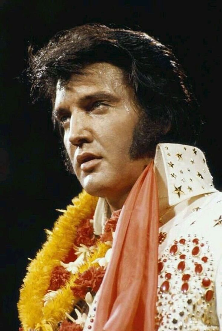 Elvis Presley during Aloha From Hawaii concert, January 14, 1973.