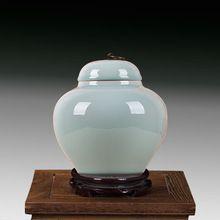 Esmaltado Templo Tarros de Cerámica hecha a mano florero de cerámica de Jingdezhen de porcelana tarro de jengibre Chino Antiguo ronda frasco de almacenamiento(China (Mainland))