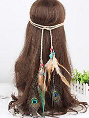 vrouwen westerse stijl veer kralen weven hoofdbanden 1 stuk