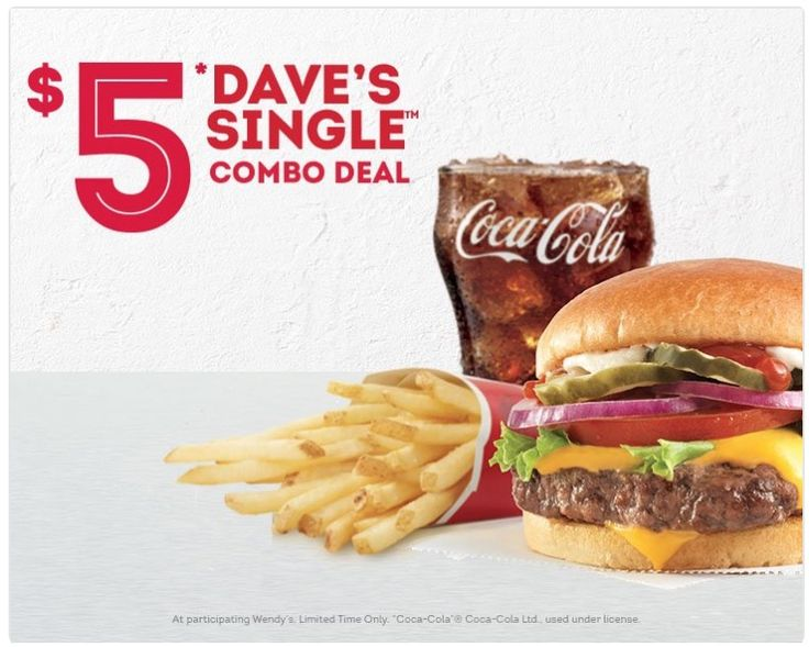 Wendys Canada Deals: Daves Single Combo Meal for Only $5! https://www.lavahotdeals.com/ca/cheap/wendys-canada-deals-daves-single-combo-meal-5/289186?utm_source=pinterest&utm_medium=rss&utm_campaign=at_lavahotdeals&utm_term=hottest_12