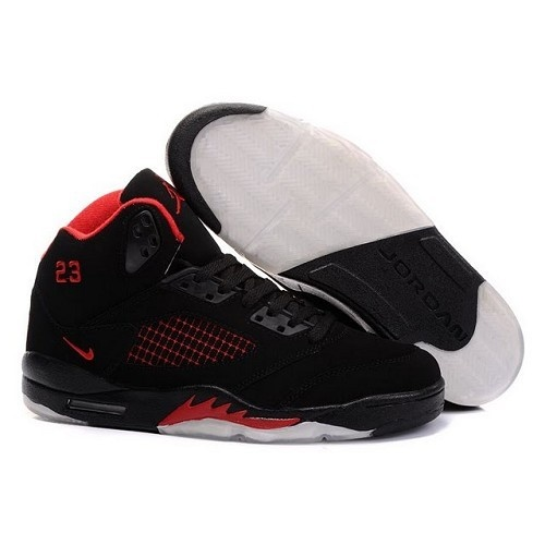 Air Jordan Retro 5 High Tops - Black / Red Men Sneakers 1017 - $55.60 From:www.basketball-mall.com | Jordans | Pinterest | Men Sneakers, Air Jordan Retro ...