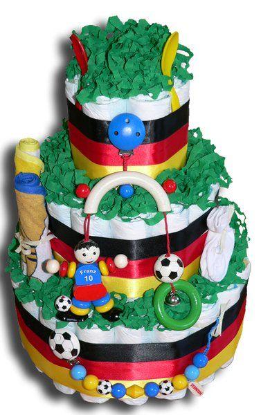 Fussball Windeltorte Deutschland - Geschenk zur Geburt