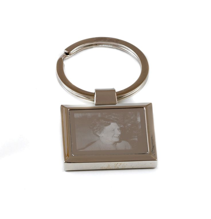 A popular piece. Have your photo engraved onto a keyring to create a permanent keepsake. #jewelleryengraving #keepsakes #memorial #funeral #photoengraving