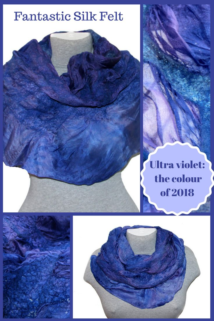 This nuno felted scarf was made of soft merino wool through a wet felting process on the natural silk base.   Pleasant to touch, feels silky on the skin and would be a good accessory and will decorate any outfit. #felting #womenscarf  #accessories