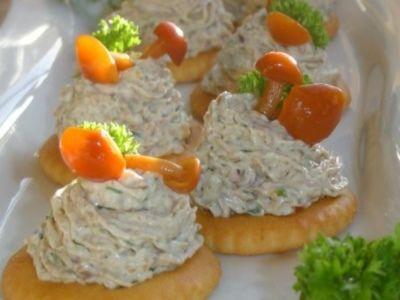 Рецепт Закуска на крекерах