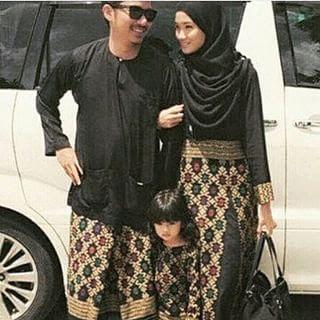 Batik Songket Sarawak Couple Model Terbaru untuk Lebaran