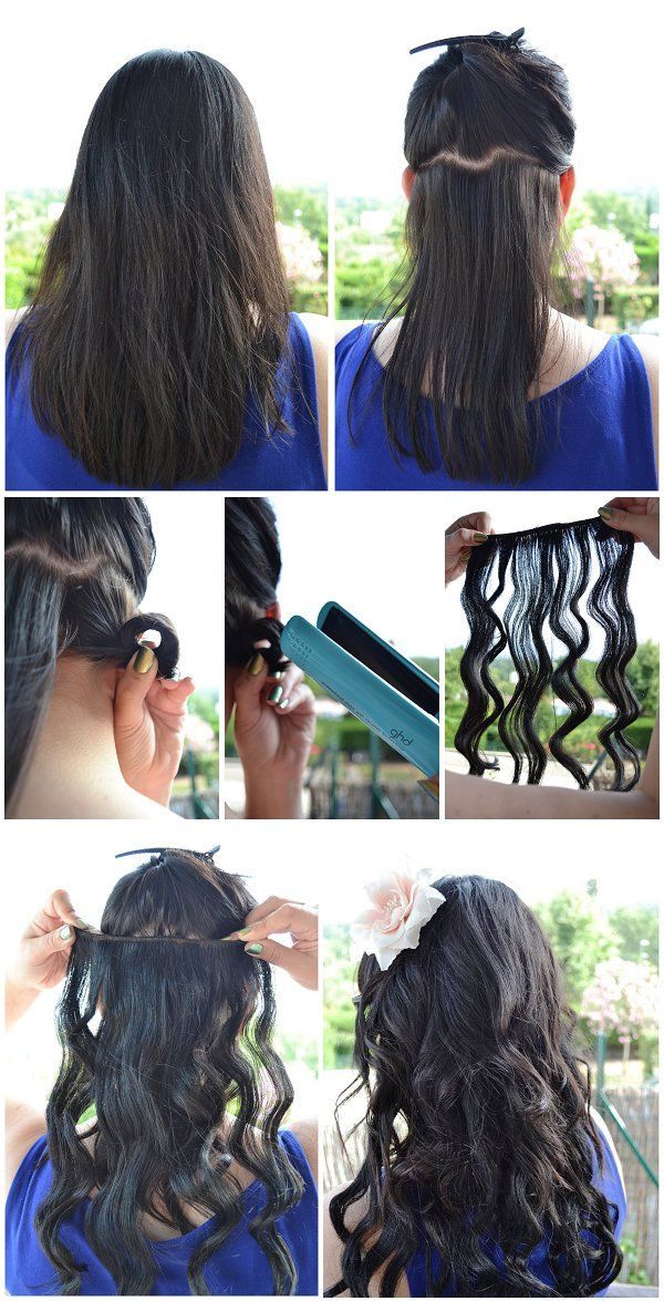 Diy Beauty Beach Waves With Straightener Beach Curls