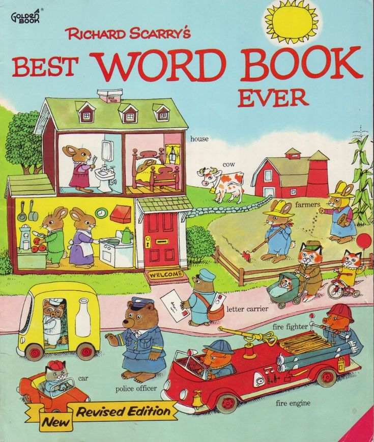 Richard Scarry.  I don't remember this particular book but I remember reading his books as a child.