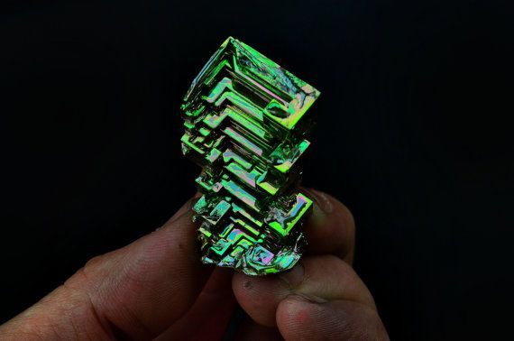 Little Evergreen Bismuth Metal Crystal Iridescent by Element83, $49.95