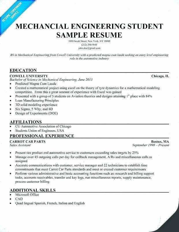 Mechanical Engineer Resume Sample Awesome Mechanical Engineer Resume Examples Emel Mechanical Engineer Resume Engineering Resume Templates Engineering Resume