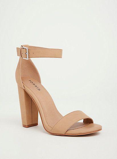 7047633d4b3 Nude Chunky Heel Sandal (Wide Width)