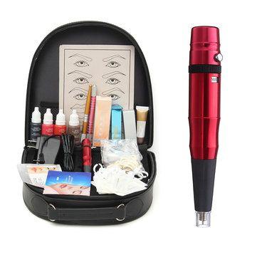 Professional Complete Eyebrow Lips Tattoo Machine Kits Permanent Makeup Set