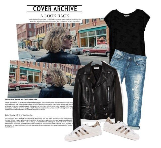 Neo black design by silverstrand18 on Polyvore featuring polyvore, fashion, style, Bobeau, Yves Saint Laurent, Sans Souci, adidas Originals, Nome and clothing