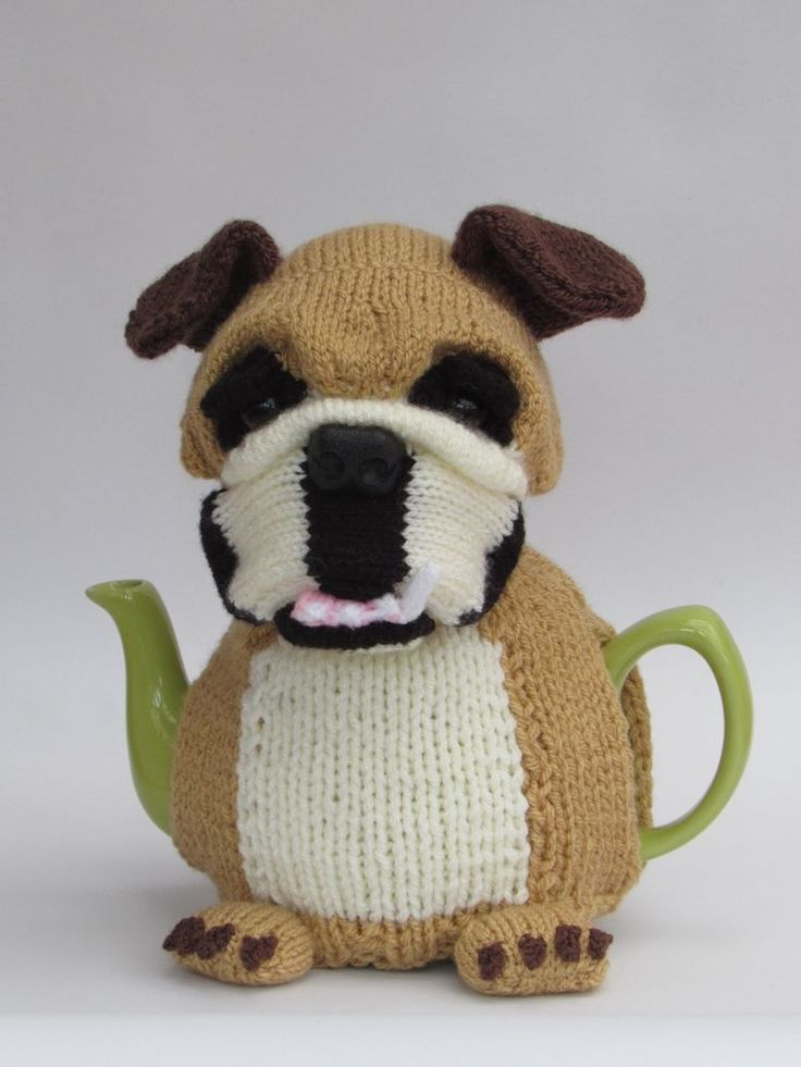 British Bulldog Tea Cosy Knitting Pattern in Crafts, Crocheting & Knitting…