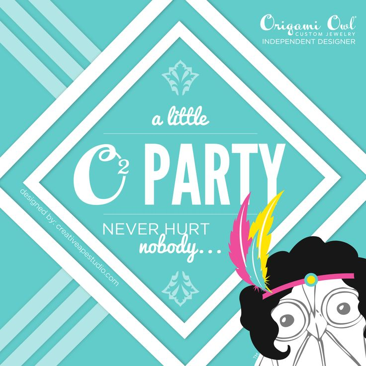 O2 Party - Origami Owl® Social Media Graphic