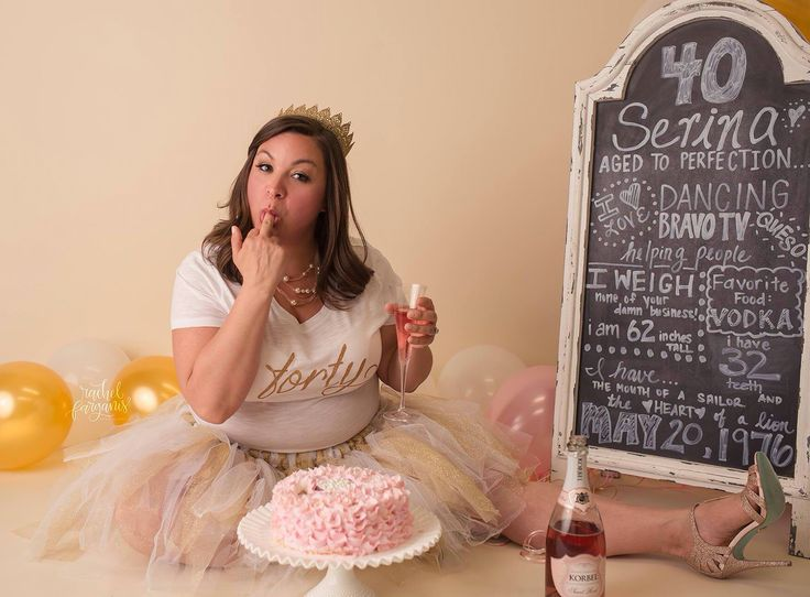 Fortieth Birthday photo idea.  Good for any grownup birthday really ;)
