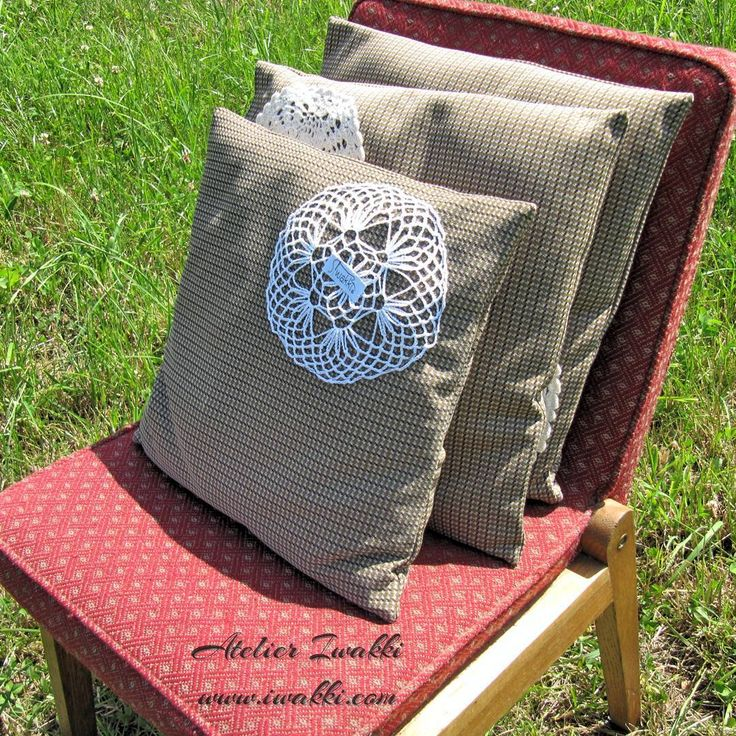 Retro cushions with fabric 70s. This fabric comes from Poland. Fashion designer - Iwakk