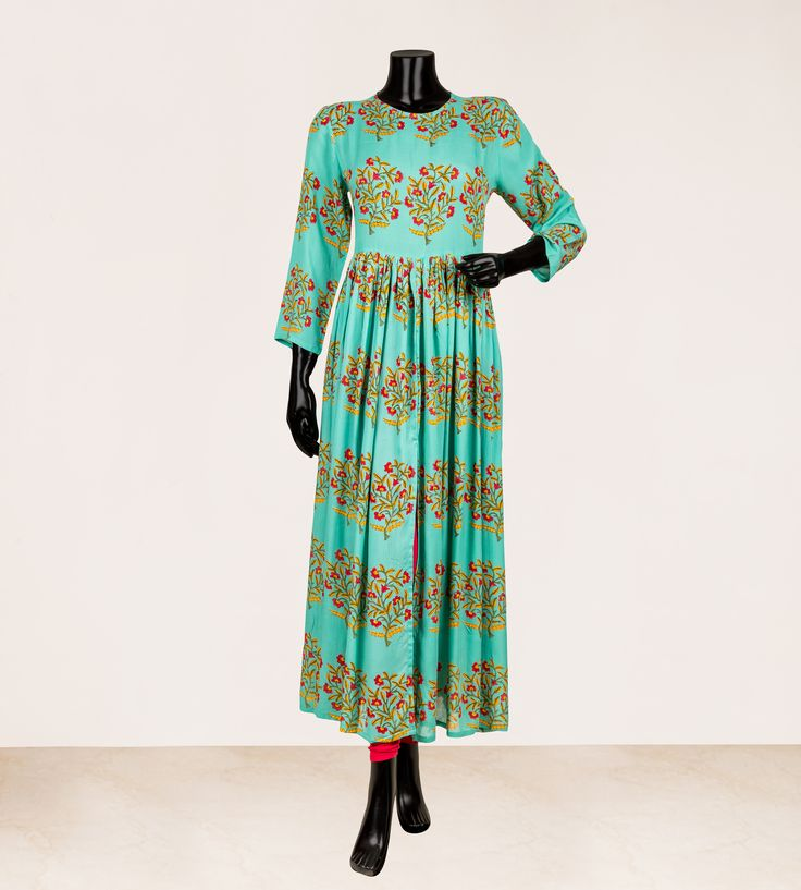 Hand Block Printed Modal Cotton Kurta by Missprint