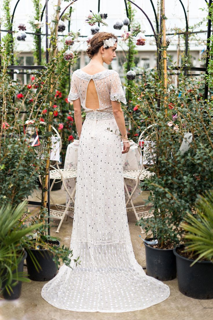 Sequined wedding #dress | Photography: Anushé Low - anushe.com  Read More: http://www.stylemepretty.com/destination-weddings/2014/04/23/botanical-wedding-inspiration/