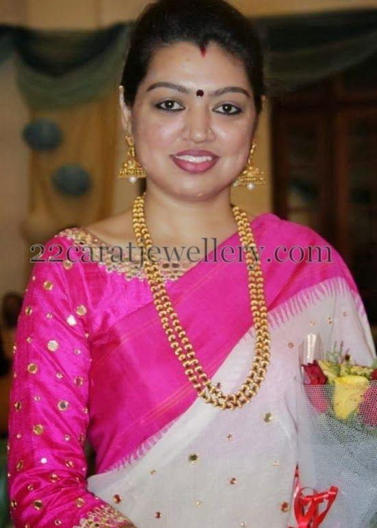 Jewellery Designs: Sneha Sister Sangeeta Beads Set | Beads ...