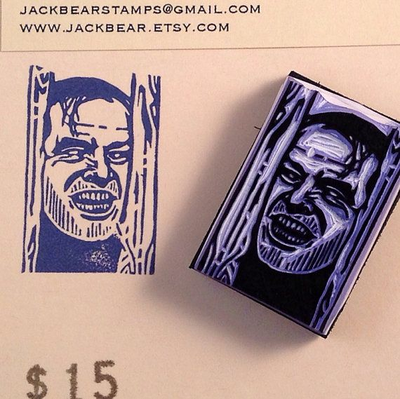 Shining inspired Stamp  Hand Carved Rubber Stamp by jackbear, $15.00
