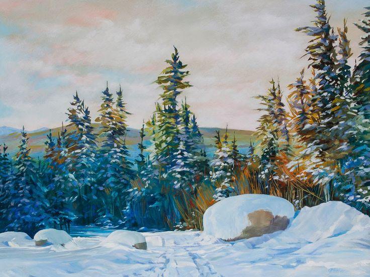 """Glenda Mosher """"Winter Walk on the Ridge"""""""