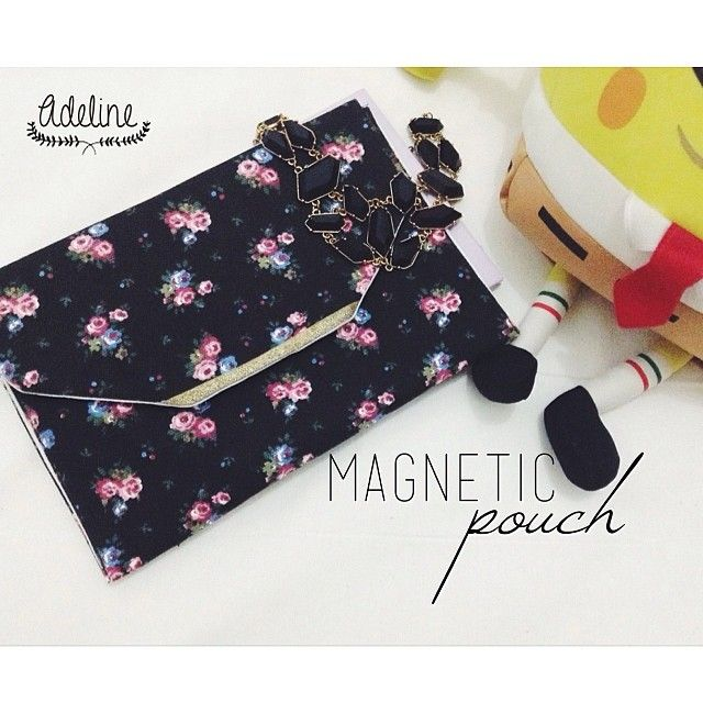 Magnetic #pouch handmade craft