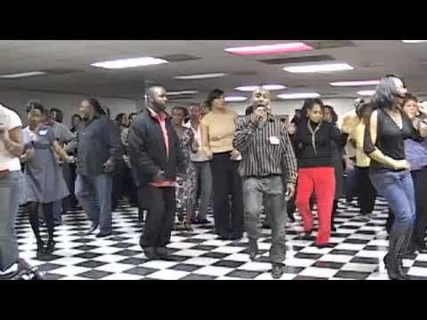 The Wobble... Different from V.I.C.'s video but this has turned out to be the popular way to do the dance.