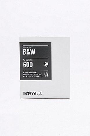Impossible - Pellicule Polaroid 600 Instant Film noir et blanc