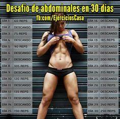Define tus abdominales con este entrenamiento para definir abdominales en 30 días, con el que sin duda estarás más cerca de cumplir tus objetivos