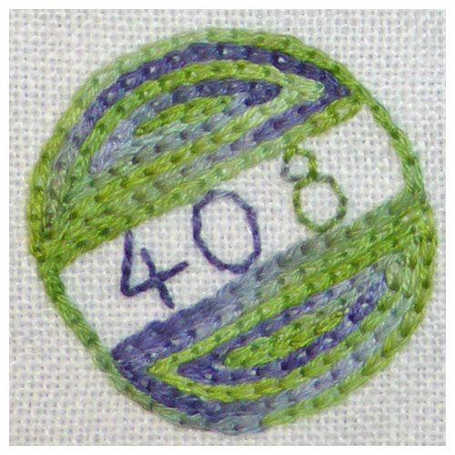 408 Oxalis - Backstitch & chain stitch.