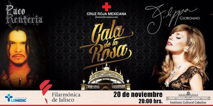 PACO RENTERÍA   &  FILIPPA GIORDANOPaco Rentería &  Filippa Giordano en Concierto, acompañados de la Filarmónica de Jalisco, 20 de Noviembre a las 20;00 hrs. Instituto Cultural Cabañas, Guadalajara, Jalisco Evento a beneficio de la Cruz Roja Mexicana.
