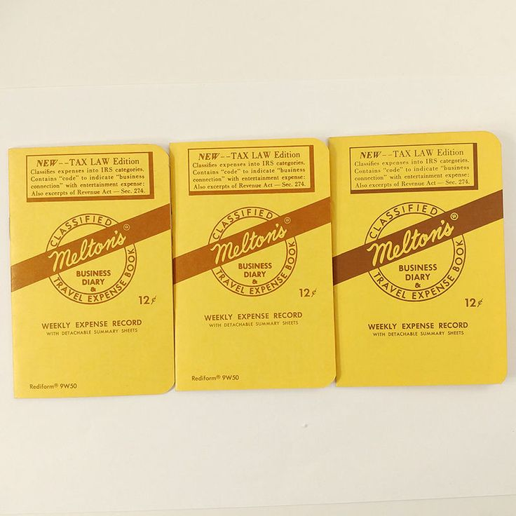 Melton's Classified Business Diary and Travel Expense Book Vintage 1963 Lot of 3