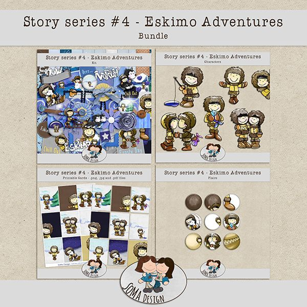 Eskimo Adventures kit by SoMa Designs. Available at Oscraps.com: http://www.oscraps.com/shop/Guest-SoMa-Designs/