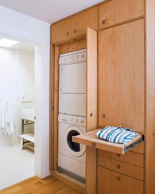 doors on laundry cabinet