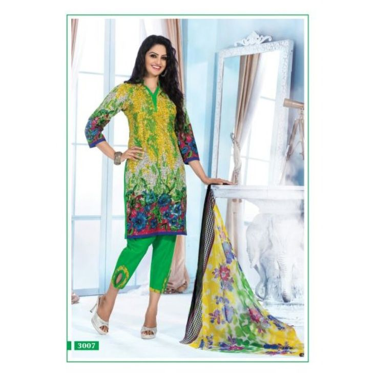 Sparkle Cotton Dresses Cotton Printed Salwar Suit Dupatta Material