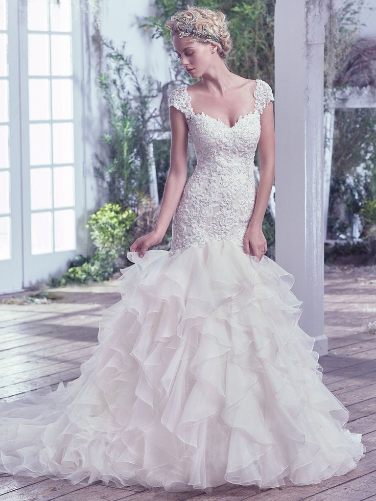 Find More Wedding Dresses Information about New Organza Appliques Beaded Wedding Dresses Sweetheart Mermaid Bridal Gowns Cap Sleeve Long Wedding Dress 2016 Vestido De Noiva,High Quality dress up wedding gowns,China dress multi Suppliers, Cheap dress up gown from Galaxy Wedding Dress Co., Ltd. on Aliexpress.com