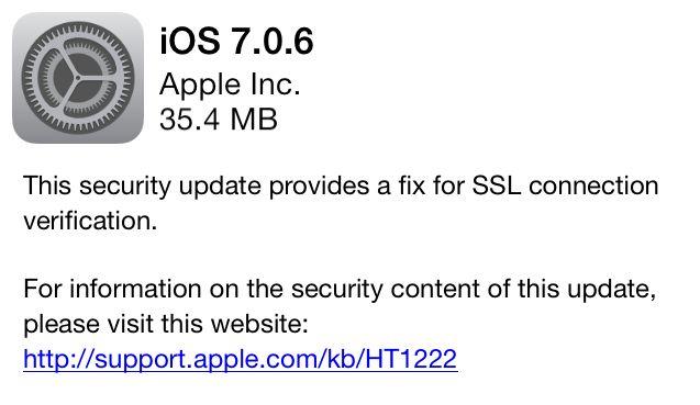 Σοβαρό κενό ασφαλείας στο iOS: Αναβαθμίστε άμεσα στην έκδοση 7.0.6