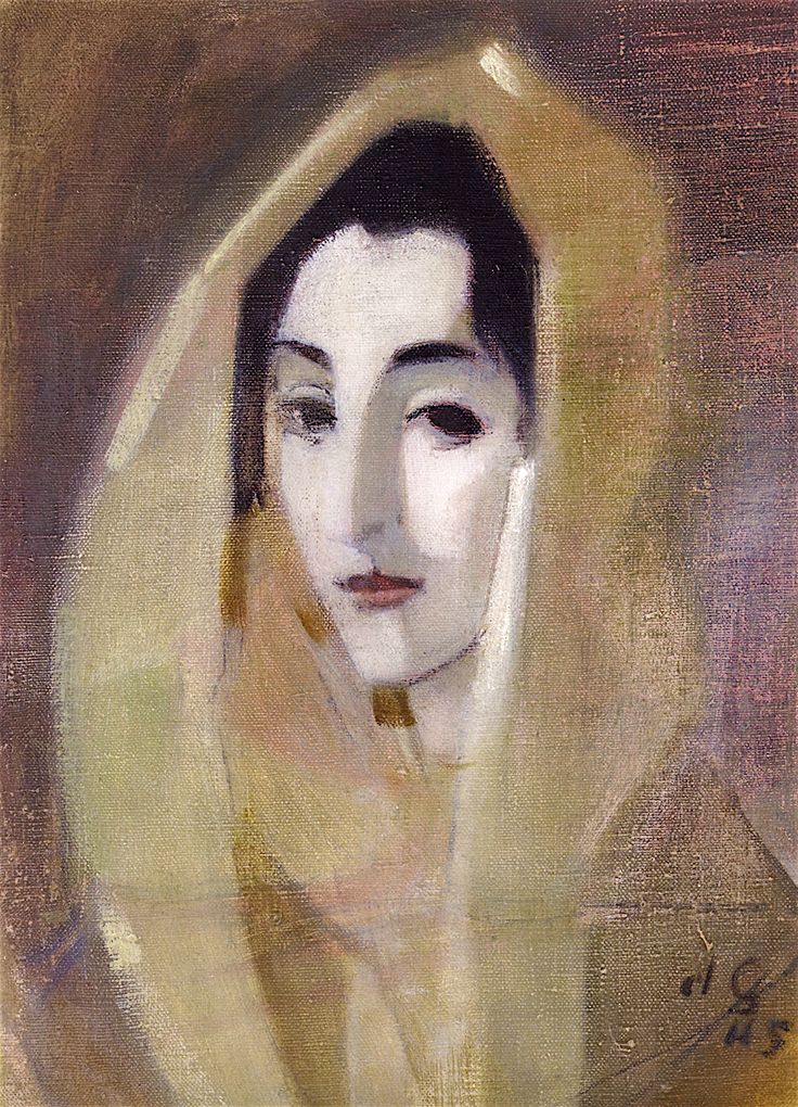 The Athenaeum - Spanish Woman, after El Greco (Helene Schjerfbeck - )