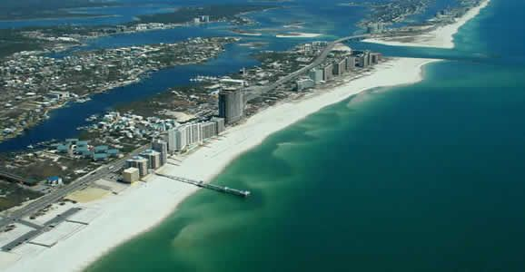 Orange Beach, Alabama - Great ocean-front city in Alabama.  March was a good time...not too hot...but a little cool for the outdoor pools.  Great location...on the ocean...limited spring breakers...within reasonable driving distance to Mobile, Gulf Shores, Pensacola and Gulf Breeze.  Clean beaches.