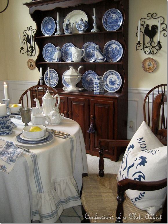 My Favorite Room French Country Dining Ideas Home Decor I Love Welsh Dresser It Sets Such A Pretty Backdrop For Collection Of