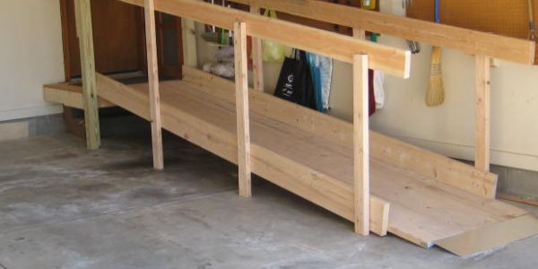 Straight Wheelchair Ramps Handrails For The Home
