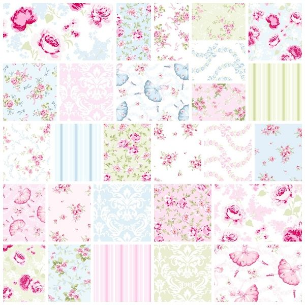 Ballet Rose 27 Fat Quarter Set by Rachel Ashwell for Treasures by Shabby Chic