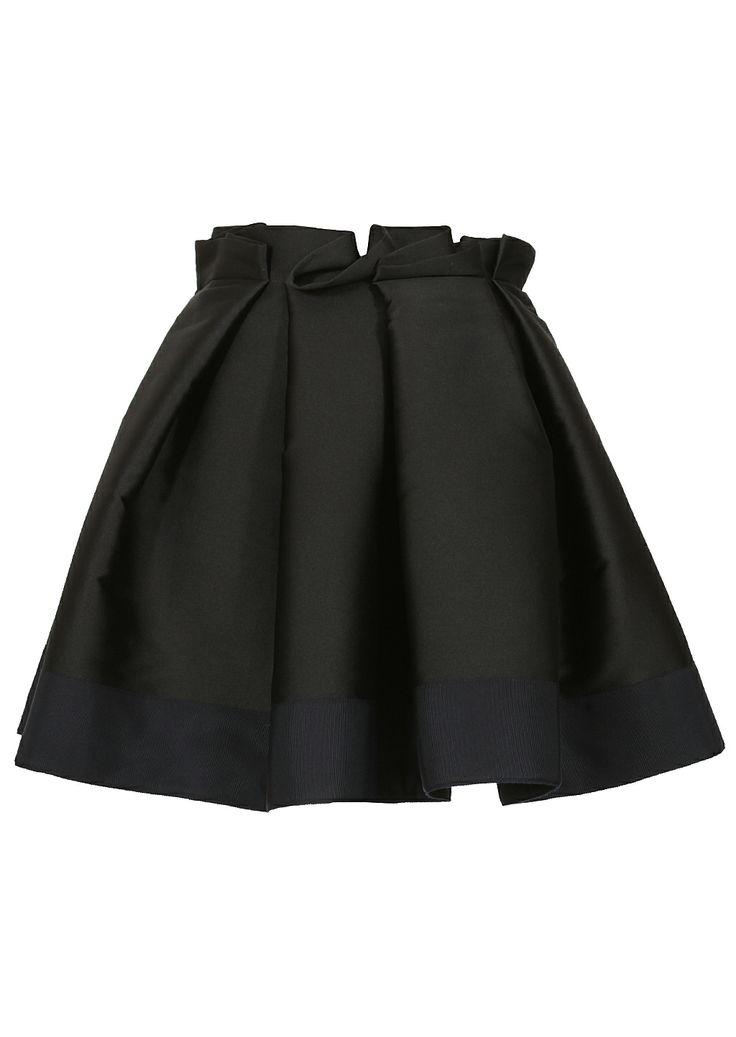 Lanvin black and navy blue flared skirt | Montaigne Market