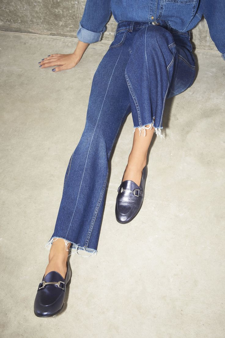 The shoe of the moment – the loafer is versatile and practical yet unequivocally cool. Look to hi-shine metallic, finishes, statement jewel tones and backless brocade styles for an on-trend update to this classic shoe. #Topshop