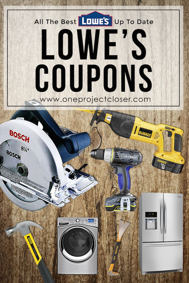 Awesome Lowe's Coupons! Current and lots of great deals on appliances from One Project Closer! Saving for later. via @JocieOPC
